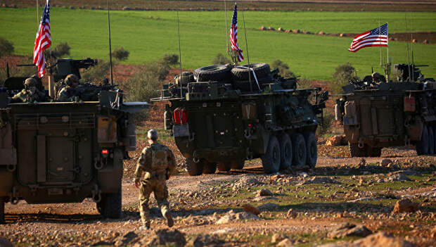 Американские военные в Сирии. архивное фото