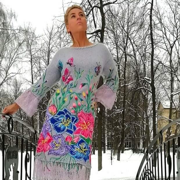 «Я рисую спицами и нитками»: невероятные вязаные вещи Владиславы Соломахи