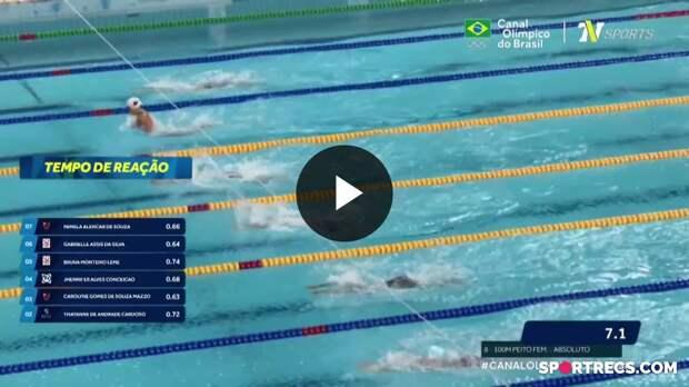 Jhennifer Conceição vence, mas não consegue o índice olímpico nos 100m Peito Feminino - Dia 2 do Pré-Olímpico de Natação (20/04/2021)