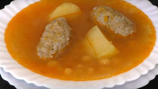 Советский рецепт приготовления супа с фрикадельками