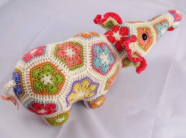 Цветочный фрагмент крючком АФРИКАНСКИЙ ЦВЕТОК для вязания игрушек (71) (640x474, 262Kb)