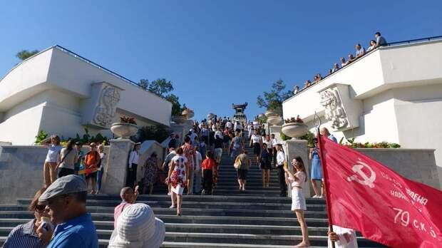 Открытие Матросского бульвара в Севастополе