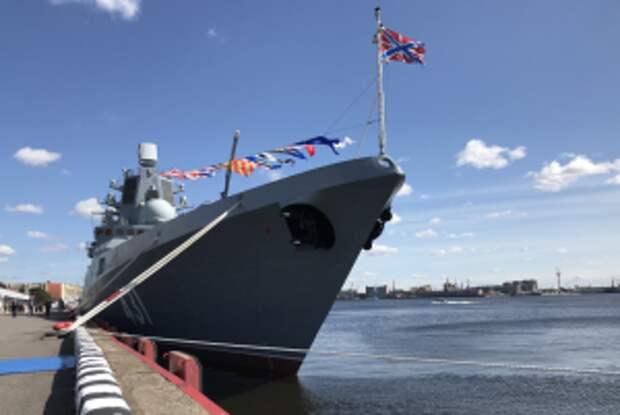 """Корвет """"Гремящий"""" показал себя на морском салоне в Петербурге"""