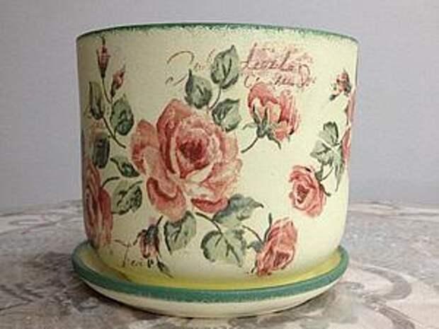 Преображаем старый цветочный горшок | Ярмарка Мастеров - ручная работа, handmade