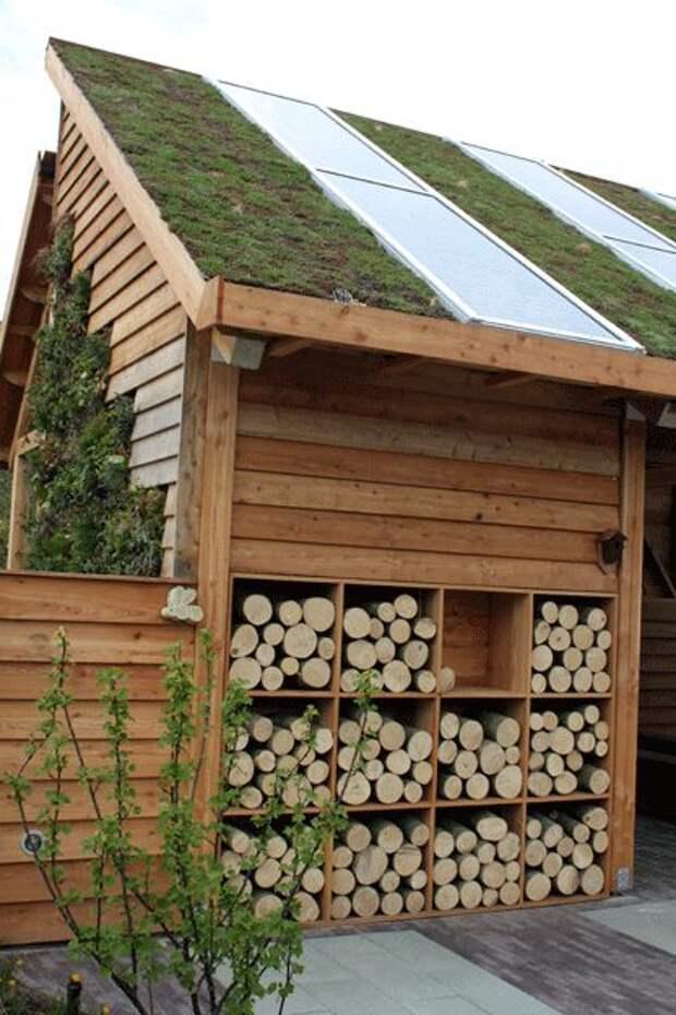 Идеи хранения дров