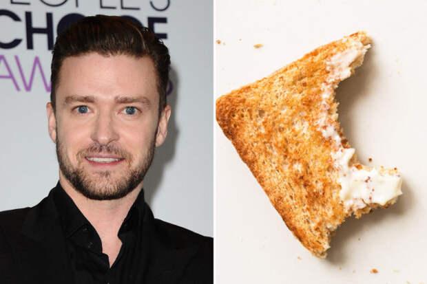 джастин тимберлейк и недоеденный тост