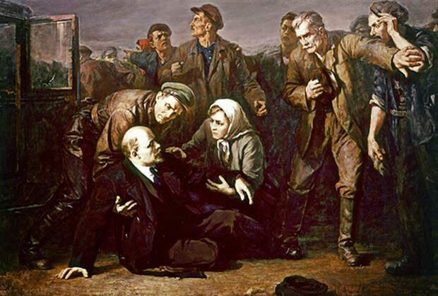 Картина П. Белоусова «Покушение на В.И. Ленина»