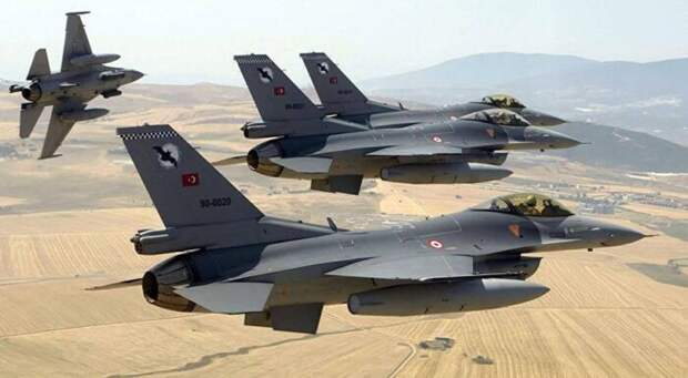 Avia.pro: истребители F-16 ВВС Турции нанесли удар по Армении