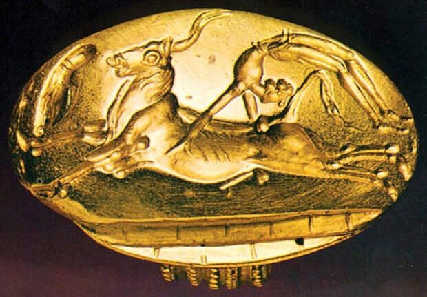 Кольцо царя Миноса. Минойская цивилизация, о. Крит.