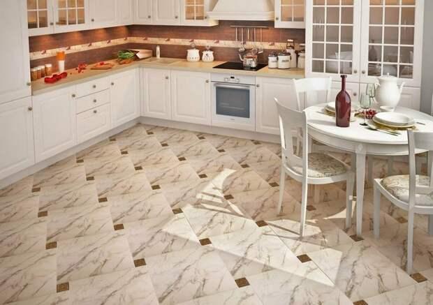 Пол на кухне: плюсы и минусы самых распространенных покрытий