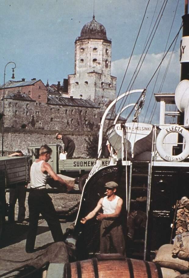 Вид на Выборгский замок, 1939 год. <br>