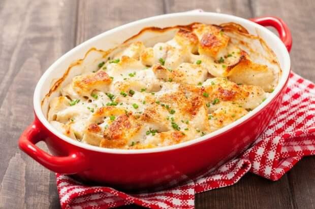 Запеканка с сыром и рыбой. \ Фото: milaclub.com.