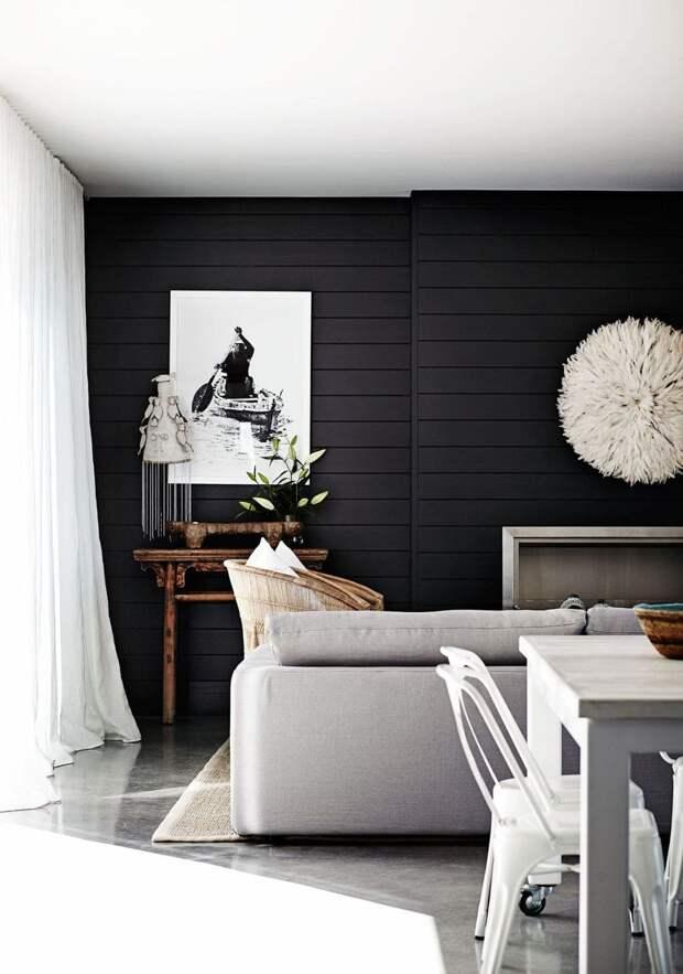 Идеи интерьера с черным деревом, которые убедят вас перейти на темную сторону