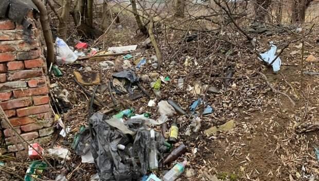 Несанкционированный навал мусора убрали на Трубной улице по просьбе жительницы