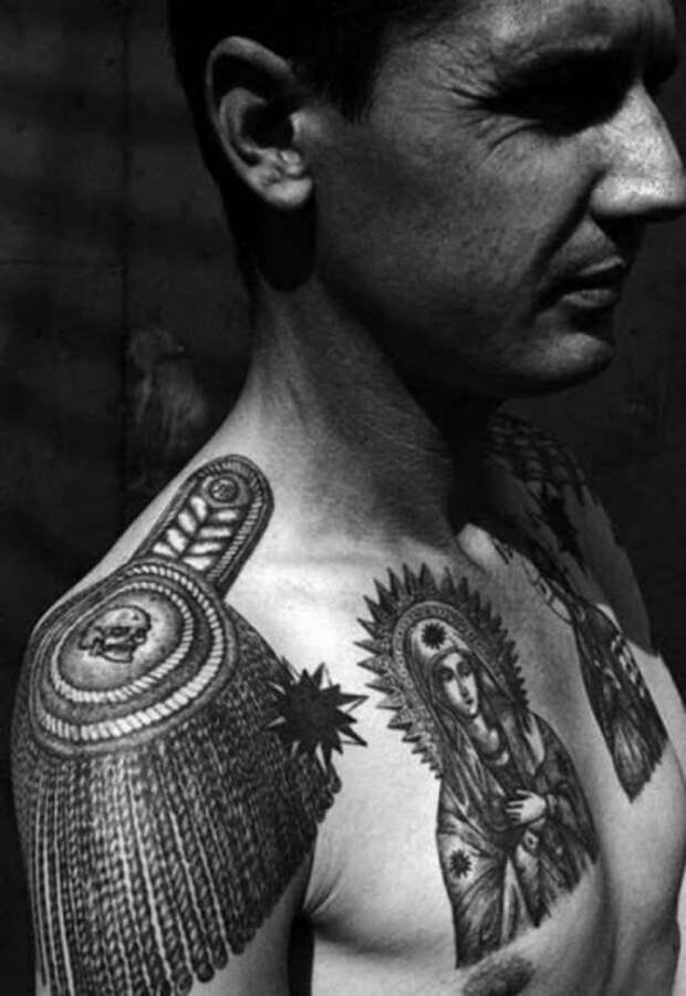 Татуировки воров в законе и что они означают.