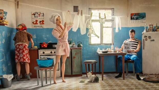 Какой была бы жизнь Барби и Кена вСССР