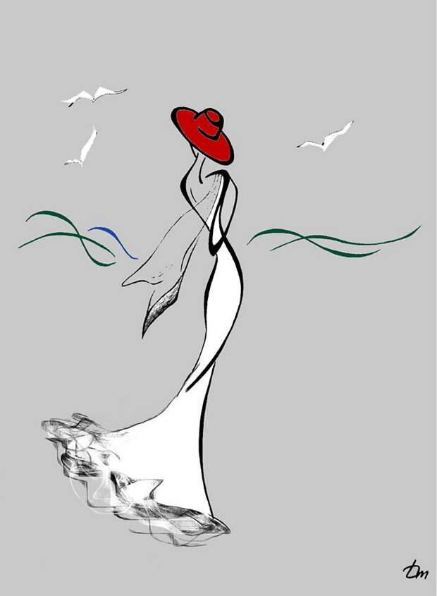 Только листья с деревьев так и падают.... Художник Татьяна Марковцева