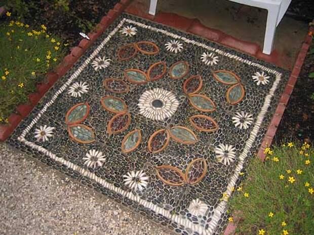 дорожки на даче с мозаикой  фото