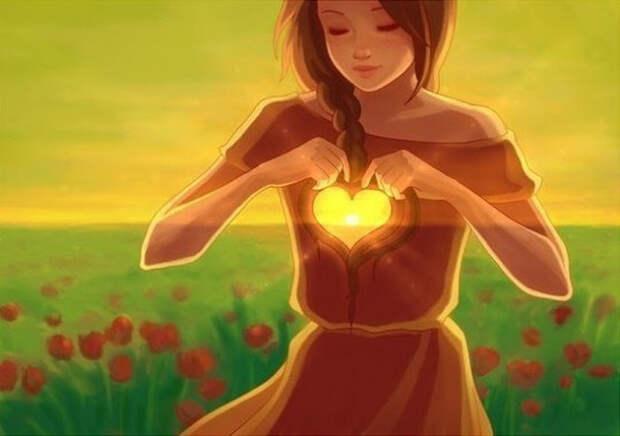 Сердечная чакра влияет на способность любить