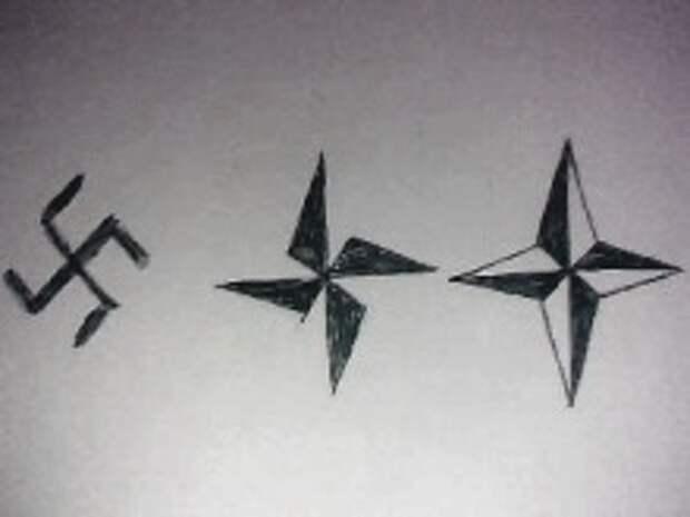 Тайна эмблемы НАТО - замаскированная гитлеровская свастика