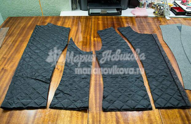 Детали подкладки куртки косухи