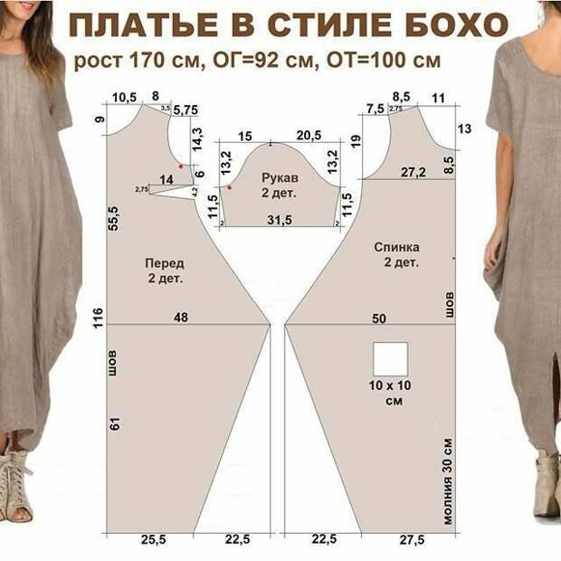 Платье макси с перекрутом выкройка