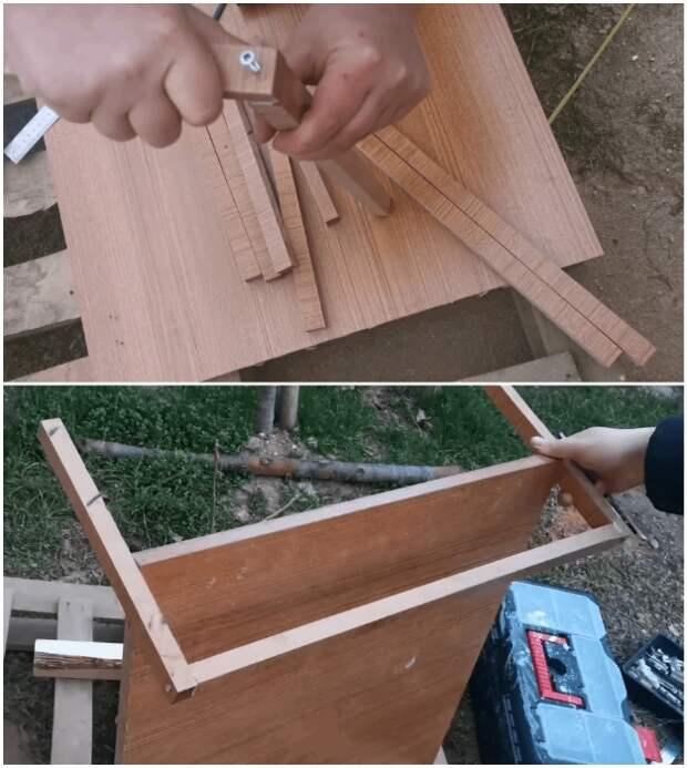 Для регулировки ширины держателей боковые бруски можно сделать длиннее, а потом срезать лишнее.