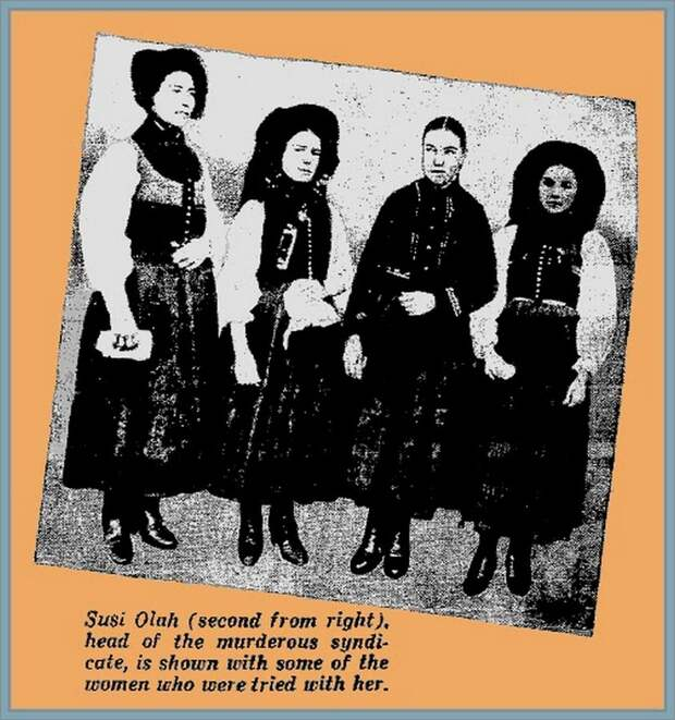 Венгерские ведьмы: женский криминальный синдикат 1914 - 1929 гг.