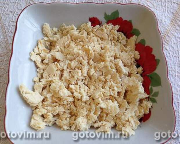 Творожно-банановый торт из печенья без выпечки, Шаг 07