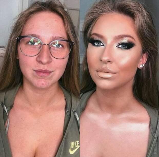 До и после: чудесные преображения при помощи макияжа