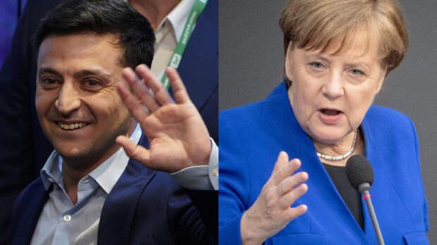 Немецкие СМИ обвинили Зеленского в оскорблении правительства Меркель