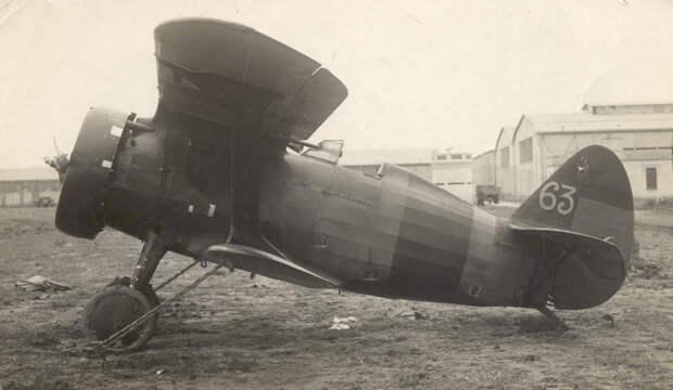 Истребитель И-15 из состава ВВС республиканской Испании, 1937 год