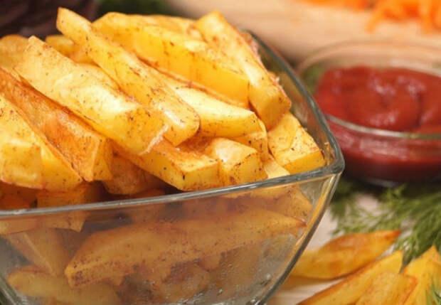 Жарим картошку фри без масла