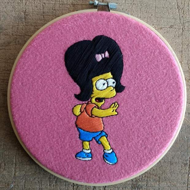 10 классных вышивок с героями «Симпсонов»
