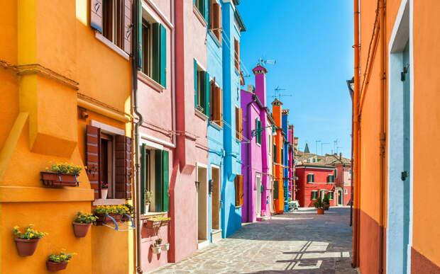 Квартал Бурано, Венеция, Италия