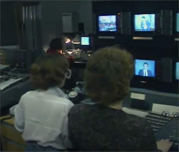 """Процесс съемок программы """"Время"""" 1992 год"""
