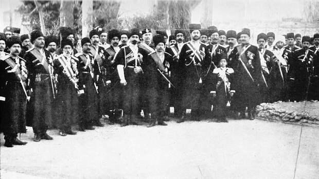 Казаки персидской бригады. Апрель 1909 года