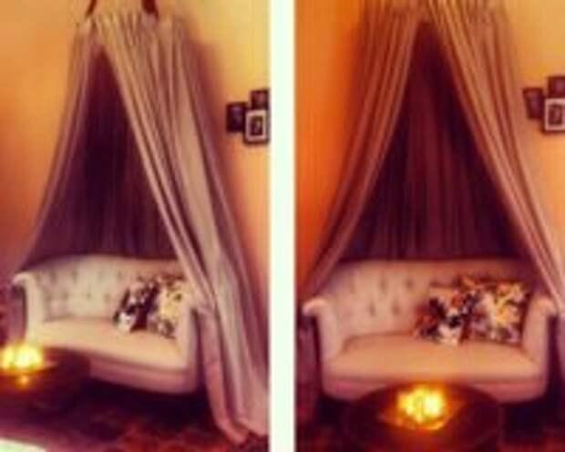 как сделать балдахин на кровать своими руками фото видео
