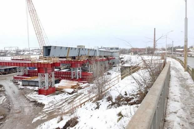 Завершена первая очередь строительства нового Яблоновского моста