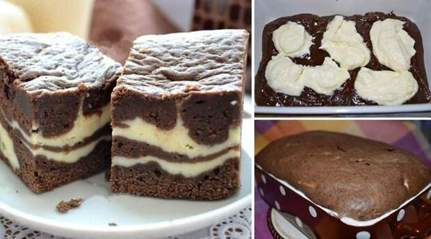 Шоколадно-творожный пирог Мраморный. Нежное и рассыпчатое лакомство 4