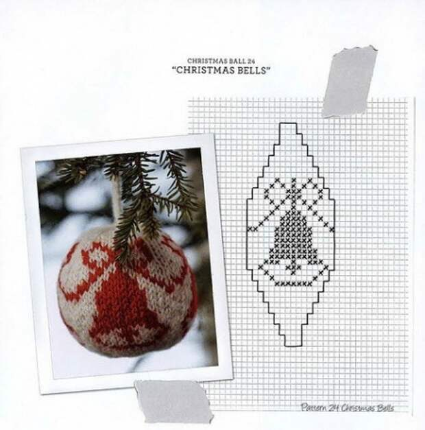 Вяжем елочные шарики спицами - мастер класс + большая подборка схем