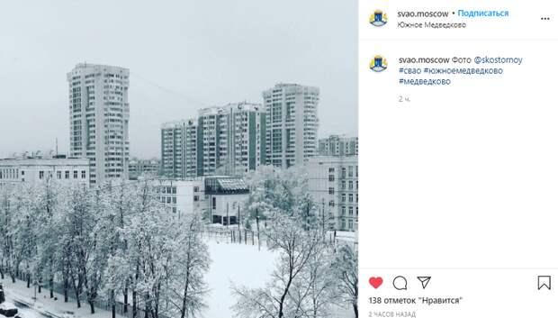 Фото дня: проезд Шокальского под белым покрывалом февраля