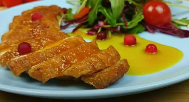 Очень вкусное куриное филе с апельсином