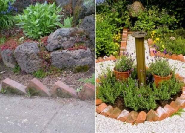 Идеи из кирпича для двора