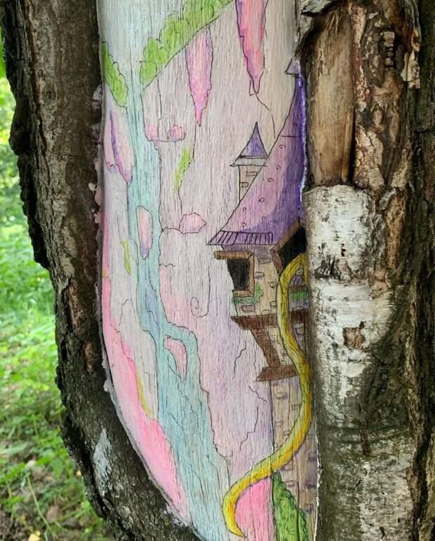 Фото дня: деревья Лианозовского парка как полотно для художников