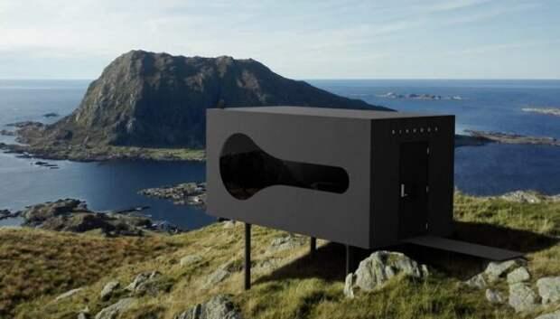Птичьи короба с видами на фьорды и горные хребты Норвегии