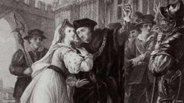 Томас Мор прощается с дочерью перед казнью