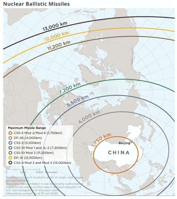 Ракетный арсенал Китая и радиус его применения
