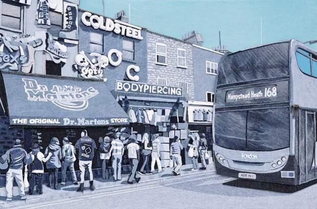 Креативное преображение старых джинсов от художника Яна Берри
