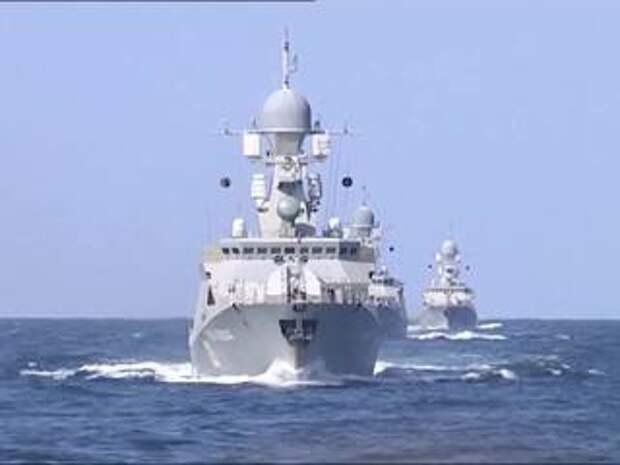 Корабли Каспийской флотилии завершили переход в Черное море